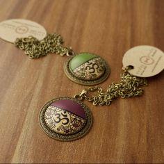 """46 Likes, 4 Comments - Handmade Jewelry Kvičke Kvačke (@kvickekvacke) on Instagram: """"Custom made #yoga necklaces #yogajewelry #omsymbol #om #spiritual #green #purple #meditation…"""""""