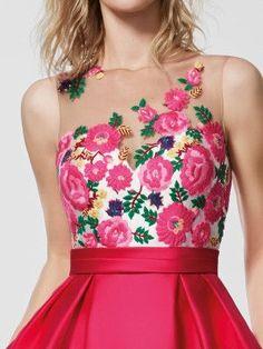 Imagem do vestido de festa rosa (62045). Vestido GLEDA curto sem mangas