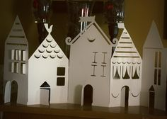 Paper Tealight Candle Village...I've this. :)