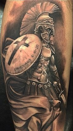 Spartan warrior tattoo for men
