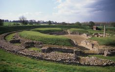 ROMAN settlement in Britain began around 43 AD - Remnants of Roman Britain: Verulamium Roman Amphitheatre