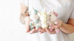 Patron Amigurumi Crochet : Petites licornes endormies – Made by Amy