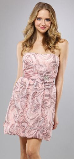 Pink And Gray Prom Dresses | LM Collection by Mignon Pink and Grey Short Prom Dress HY0571 image