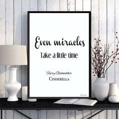 Cinderella princess Disney print Disney quote Children