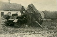 Destroyed by internal explosion of the tank pz.IV.
