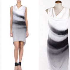 Helmut Lang Silk Black White Dress