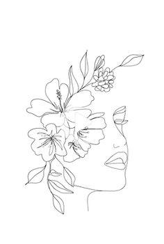 Art Sketches, Art Drawings, Drawing Faces, Tattoo Drawings, Geometric Wolf Tattoo, Greek Goddess Art, Minimal Art, Kunst Tattoos, Line Art Tattoos
