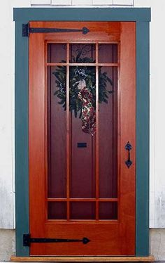 Ideas For Front Screen Door Craftsman Style Front Door With Screen, Wooden Screen Door, Screen Doors, Front Doors, Window Screens, Front Storm Door Ideas, Diy Screen Door, Porch Doors, Entry Doors
