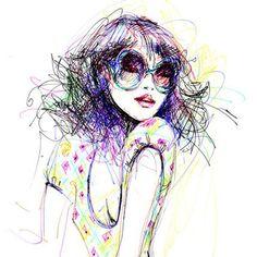 fashion mode paris art vidéo hiverfleur fille design beauté illustration scketche creation#primerasvecesbycyzone