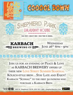 Love's not only in the air, it's going to be in my belly tonight! @karbach will be joining us tonight from 6 p.m. - 9 p.m.