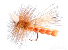 October Caddis, Foam - Almost nothing in fly fishing is as exciting as skating or drifting big flies for aggressive fish. Big trout often wait all day for such a meal. #dryfly #RiverBum