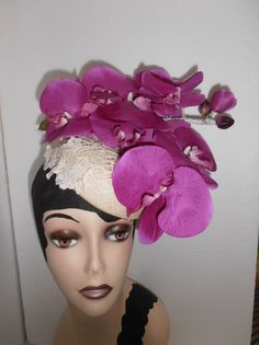 ORCHID COCKTAIL BY LEONA JANSENE NOWLAND #millinery #hats #HatAcademy