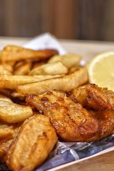 Fish & Chips | Fish. Beer. Potatoes. Frying Oil. Bring these four items together for some quality pub grub that is simple, quick, and nearly fool proof. So, next time you and your buddies come back from a fishing trip, or you are getting together with some friends and need some deep fried goodness, this recipe for Fish & Chips will be sure to fit the bill. #CampChef #CastIron #CookOutdoors #FriedFood