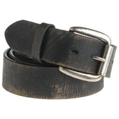 "BED:STU Men`s Drifter Belt,Black Abrasive,38"" Waist"