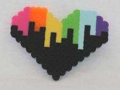 8-bit rainbow melting heart - available on therubypig.com