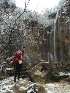 Plitvice Lakes in the snow! #Plitvice, Croatia #CroatiaTravelExpert