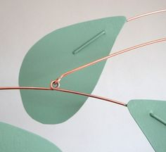Hey, I found this really awesome Etsy listing at https://www.etsy.com/listing/180702086/green-leaves-copper-metal-art-mobile