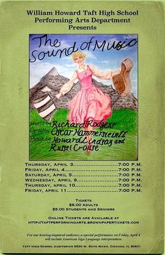 A very diverse, very dedicated and very talented young students of William Taft High School will be performing the musical play 'Sound of Music' on April 3, 4, 5, 9, 10 & 11, respectively, at 7pm. The play will be graced by at least 30 kids, with special needs, from the Vaughn Occupational High School in Chicago. The team members of Vaughn Occupational High School provide a specialized education for high school students with cognitive, developmental and multiple disabilities. Mr. William ...