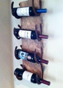 Living Edge wine rack rustic cabin beach house holder on https://www.ropedoncedar.com/