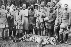 King of the hunt: The Prince of Wales - future King Edward VIII - tiger shooting in Nepal, the Indian Tour, 1921