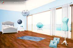 """Guarda il mio #design degli interni  """"Blu"""" su #Homestyler http://autode.sk/1hq5udz"""
