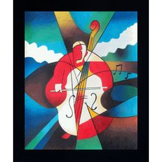 Abstract Cellist (Framed) by overstockArt on Opensky