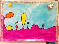 Mein Name in Schreibschrift - Kindergarten Teet und Marlou - Zeichnen İdeen Art Education Lessons, Art Lessons, Art For Kids, Crafts For Kids, Arts And Crafts, Name Design Art, Spooky Words, Atelier D Art, 3rd Grade Art