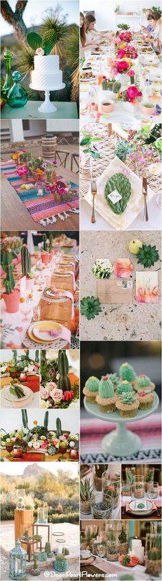 rustic cactus wedding ideas and themes / http://www.deerpearlflowers.com/cactus-wedding-ideas/