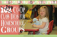 Creative co-op class ideas are not always easy to come by. Co-op parents may not be knowledgeable enough to teach some classes; your community can help.