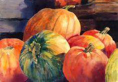 Pumpkin Watercolor Painting by Maria's Watercolor