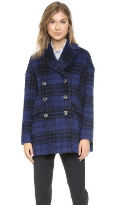 RED Valentino Faded Check Coat from #Shopbop