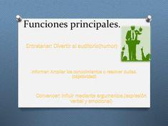 Funciones Principales del Discurso