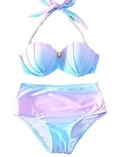 9a1d150c6ae43 New YAOYUE US Womens Mermaid Shell Bikini Sets Pearl Strap Halter Padded  Push-up Swimsuit Beachwear online. Find the perfect Seafolly Swimsuit from  top ...