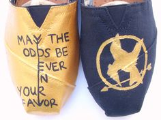The Fighter - Gold and Black Custom TOMS. $120.00, via Etsy.