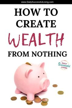 I know it sounds crazy, but learning to create wealth is fun when you finally learn to do it right. Learn how to build wealth from nothing. Tips to help you build wealth fast. Learn how to grow wealth Ways To Save Money, Money Tips, Money Saving Tips, How To Make Money, Wealth Management, Money Management, Creating Wealth, How To Build Wealth, Savings Planner