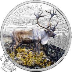 Coin Gallery London Store - Canada: 2014 $20 Caribou Coloured 1 oz Silver Coin, $104.95