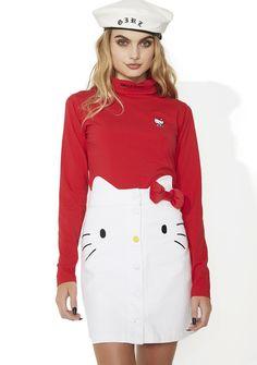 Lazy Oaf Hello Kitty Denim Skirt