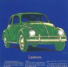Andy Warhol, Ads - Volkswagen (FS.II.358), 1985  Screenprint on Lenox Museum Board, 38 x 38 in (96.5 x 96.5 cm)  Signed and numbered in pencil lower right.  Edition 190