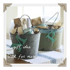 Gift buckets - great for teacher gifts at Christmas.