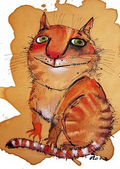 "Orange cat...Nastassia Atrakhovich. Margaret had an orange cat named ""Redfurred"""