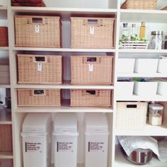 miyako.さんの、キッチン,無印良品,ニトリ,パントリー,整理収納,のお部屋写真 Shelving, Lockers, Locker Storage, Cabinet, Furniture, Home Decor, Shelves, Clothes Stand, Decoration Home