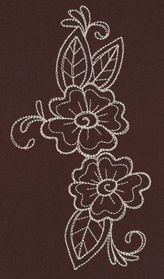 Stitch this delicate floral accent once, or repeat as a border on apparel, pillows, and more!
