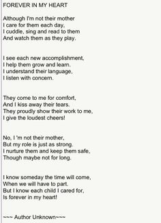 Forever in my heart. A Foster Mom's poem <3