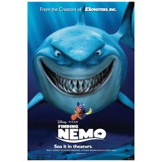 Finding Nemo: Movie Poster Mural - Officially Licensed Disney Removable Wall Adhesive Decal Giant (35