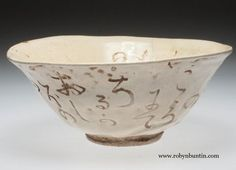 Late Spring Guinomi Bowl by Otagaki #Rengetsu. #zen #16048 This delightful misshapen #chawan turned out to be a size between a small #teabowl and a large sake cup. it does not fit quite in both hands as it should for a tea bowl but it is perfect for holding cupped in one hand to sip #sake.: