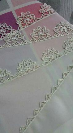 ~ Pin by Lieselotte Lina on Needle lace Crochet Lace Edging, Filet Crochet, Crochet Flowers, Knit Crochet, Needle Lace, Needle And Thread, Baby Knitting Patterns, Crochet Patterns, Point Lace
