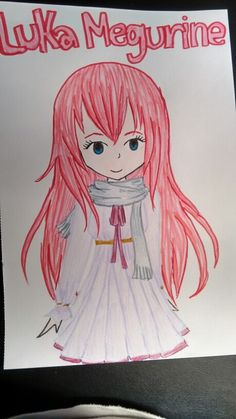 Luka drawn with markers and pencils. I'm still working on my marker skills. >.<