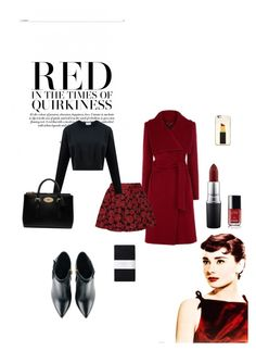 """Red"" by josefinai ❤ liked on Polyvore featuring Alice + Olivia, Kate Spade, Kim Kwang, Toast, Mulberry, Chanel and MAC Cosmetics"