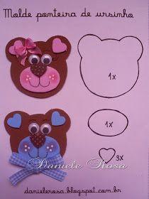 Olá amiguinhos ( as ) !!!!!!!!!!!! Vamos fazer fofurinhas para nossos aluninhos ( as ) ou para agradar a criançada??? Muitos ursinhos...