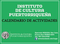 PUERTO RICO ART NEWS - REVISTA DE ARTE: Calendario de Actividades Agosto 2015 del Institut...